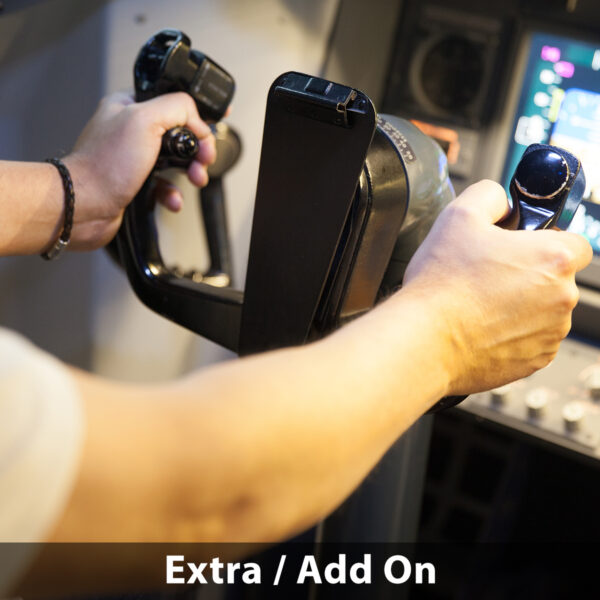 Holding Yoke 737 800 simulator