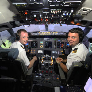 Professional Pilots in 737 800 Simulator