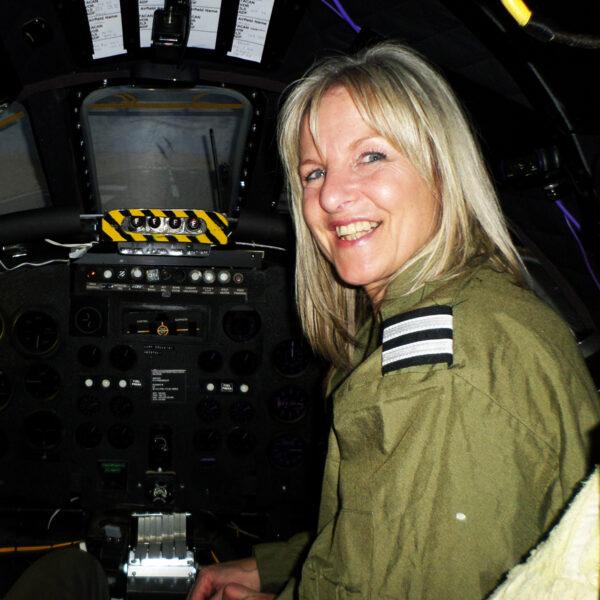 Vulcan Bomber Simulator Lady Smiling
