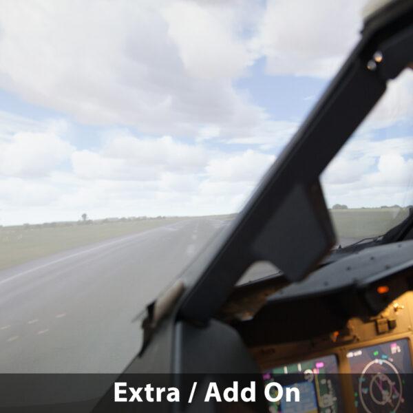 View of runway 737 800 simulator