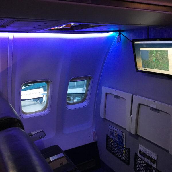 Cabin behind 737 800 Simulator