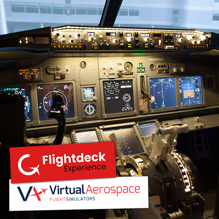 737 800 Simulator Flightdeck Experience and Virtual Aerospace
